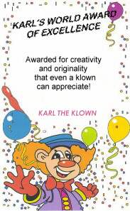 Karl's World Award of Excellence
